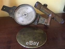 Thomas Whitney Surveyor Vernier compass, T. F Randolph Scope Brass RARE Early c