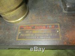 VACUUM PUMP, GERYK, HAND OPERATED, VINTAGE by PULSOMETER ENGINEERING