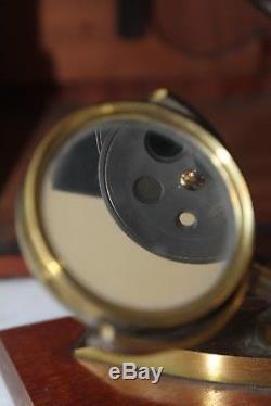 VERY SCARCE ANTIQUE BRASS BINOCULAR POLARIZING COMPOUND MICROSCOPE F. Westley
