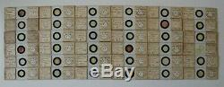 Very Fine Cased Set Of 36 Antique Marine Diatom Microscope Slides By Eduard Thum