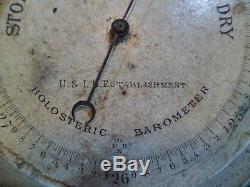 Very Rare U. S. Lighthouse Establishment Service Nphb Barometer Uslhe Uslhs