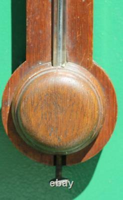 Victorian Antique English Mahogany J Davis Stick Barometer