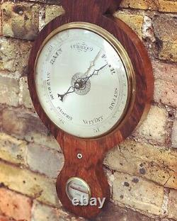 Victorian Barometer In Rosewood Case