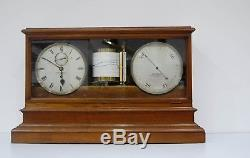 Victorian Self Recording Aneroid Barometer Or Weather Station By Jh Steward