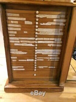 Victorian specimen slide cabinet. Late 19th century