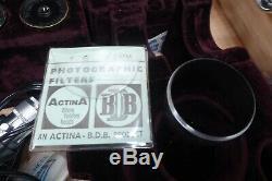 Vintage Box Ernst Leitz Scientific Microscope Lens Attachments Parts Wetzlar