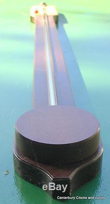 Vintage Comitti & Son London Ivorine Dial Mahogany Stick Barometer