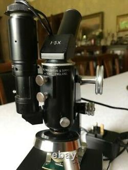 Vintage Cooke Troughton & Simms M1000 Metallurgical Microscope, c1960, Cased