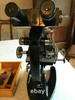 Vintage Cooke Troughton & Simms M2000 Binocular Microscope with Phase Contrast