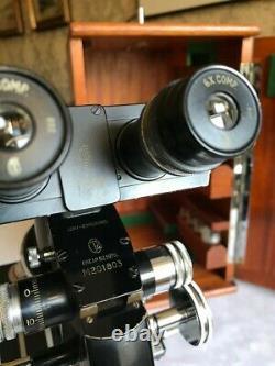 Vintage Cooke Troughton & Simms M2000 Mono/Binocular Microscope, c1950s, Cased