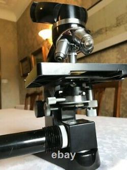 Vintage Ernst Leitz Wetzlar Laborlux Binocular Microscope with 6V PSU, c1960s