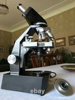 Vintage Gillett & Sibert Mono/Binocular Research Microscope Collectible