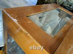 Vintage Glass Cased Scales Scientific Weighing Balance Apothecary 16x16x9