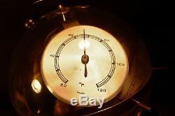 Vintage HUGER Sputnik Weather Station Barometer Thermometer Art Deco 50s 60s