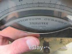 Vintage Hoyt's patents Whitney Electrical continuous current ammeter 4Q-17