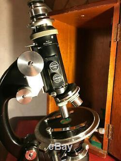Vintage J. Swift & Son Petrological /Petrographic Microscope, Cased, Watson Lens