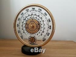 Vintage Jaeger LeCoultre art deco weather-station (barometer & thermometer)