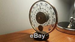 Vintage Jaeger art deco desk weather-station barometer and thermometer