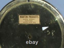 Vintage Marpro Marton Products Devon Brass Marine Ships Yacht Barometer Nautical