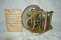 Vintage RARE Steam Engine Model Reciprocating Solenoid Motor France St Joseph