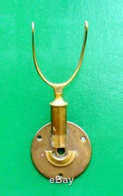 Vintage Ships Marine Gimbaled Brass Stick Barometer