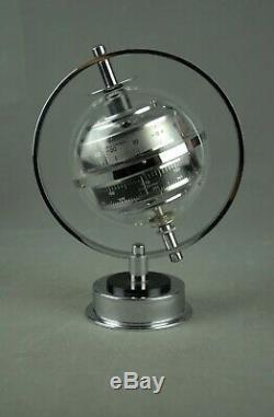 Vintage Sputnik Table Weather Station Barometer Thermometer Art Deco 60s 70s 80s
