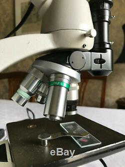 Vintage Vickers Instruments M12A Metallurgical Microscope with LED Illuminator
