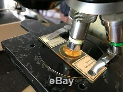 Vintage Vickers M12 Dual Metallurgical/Biological Microscope with Binocular Head