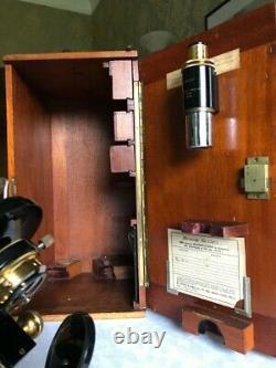 Vintage W. Watson & Sons Ltd Bactil Mono/Binocular Microscope, circa 1934, Cased