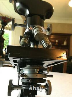 Vintage W. Watson & Sons Ltd Bactil Mono/Binocular Microscope circa 1952