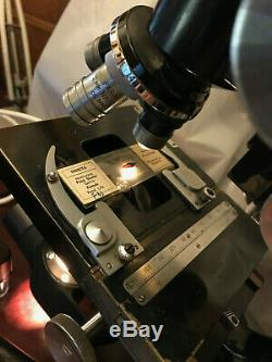 Vintage Watson Bactil Binocular High-Power Technical Microscope, Cased c1958