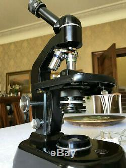 Vintage Watson Service 3 Monocular Microscope, ex Glasgow Royal Infirmary, c1963