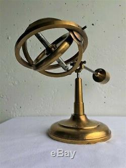 Vintage gilded brass Gyroscope gravitational science device