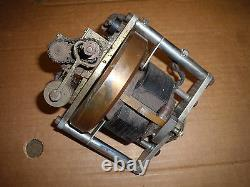 Vintage motor chrome copper gear electromagnet brake electric motor educational