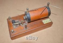 Vintage spark generator transmitter F E Becker London