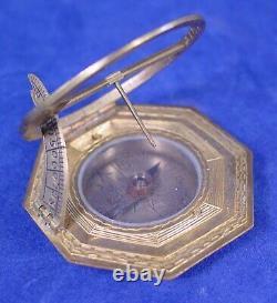 Vogler Augsburg Equicnoctial Sundial 18th Century withOriginal Case, Exc. Cond