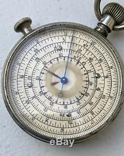 W. F. Stanley Boucher Pocket Watch Style Circular Slide Rule Calculator
