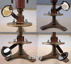W H Bulloch E B Meyrowitz Antique Brass Histological Microscope Sn-111 C-1891