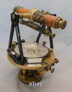 W & L E Gurley Light Mountain Transit in Solar Transit Box Antique Instrument