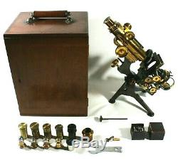 W Watson & Sons High Holborn London Royal Microscope Cased Antique UK Fast post