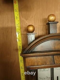 Walnut Georgian stick barometer, E Hunt London