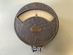 Weston Ammeter Large Cast Iron Electrical 1890 Newark NJ Antique 8.5