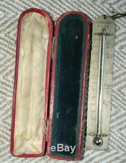 William IV Morocco Leather Cased Travelling Thermometer