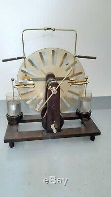 Wimshurst Machine antique model 1870 all restored work fine électrostatique old