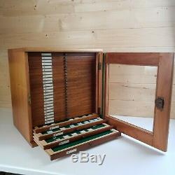 Wooden Vintage Microscope Slide Cabinet inc 650 Collection Apothecary Cupboard